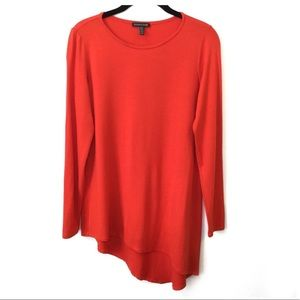 Eileen Fisher Orange Viscose Asymmetrical Tunic XS